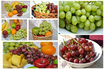 Collage of Grapes