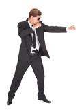 Male Secret Agent Fighting