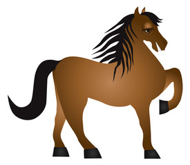 Horse Forward Pose Vector Illusrtation