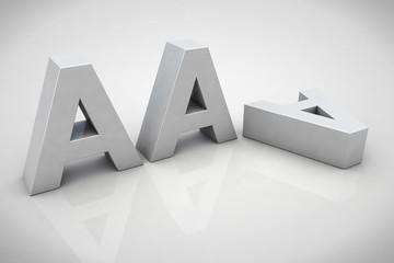 3D render AAA financial credit notation
