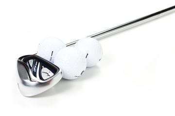 Palline e mazza da golf