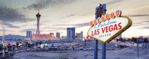 In de dag Las Vegas Welcome to Las Vegas Sign