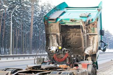 Broken Down Truck on the Road