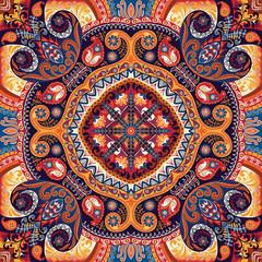 Paisley kerchief vector pattern