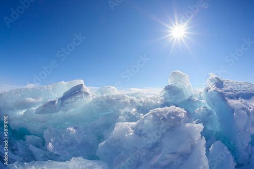 Fotobehang Antarctica 2 Winter Baikal lake