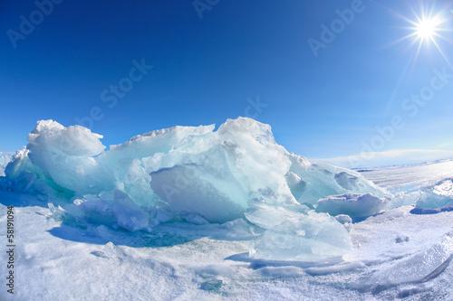 Foto op Plexiglas Poolcirkel Winter Baikal lake