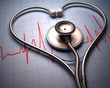 Stethoscope heart shape. Clipping path included.