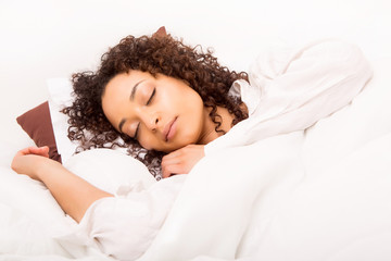 African woman slepping