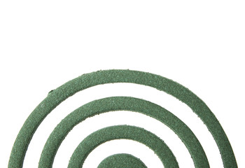 Mosquito coil isolated on white