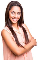 Ethnic woman posing
