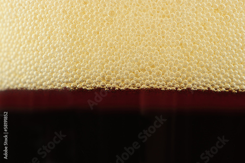 Bubbles on Top of Fizzy Soft Drink