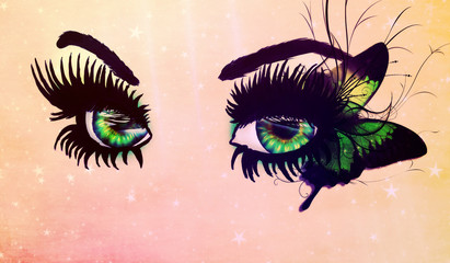 Fantasy green eyes