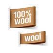 100% wool product clothing labels