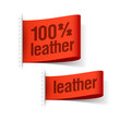 100% leather product clothing labels
