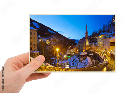 Bad Gastein Austria photography in hand