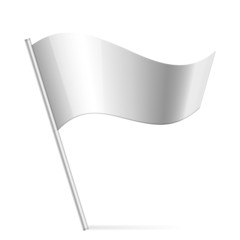 Vector illustration of silver flag
