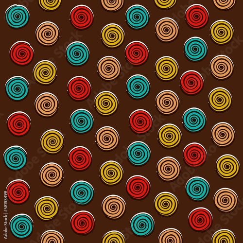 creative colorful round swirl design pattern vector