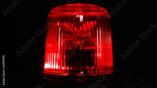 Red emergency light flashing