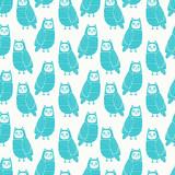 Fototapety Owls seamless pattern