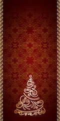 Vintage gold Christmas background