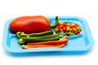 Paprika in Streifen und Stücke auf Teller