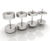 Metalll dumbbells