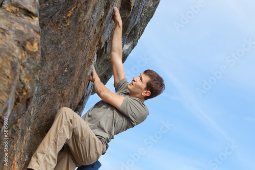rock climbing outdoors