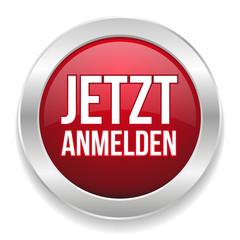 Rot silberner Anmelde-Button