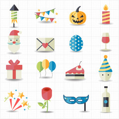 Celebration, Party icons