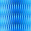 Blue knitted vector seamless pattern