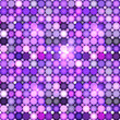 Abstract violet circles vector seamless pattern