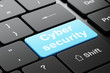 Security concept: Cyber Security on computer keyboard background