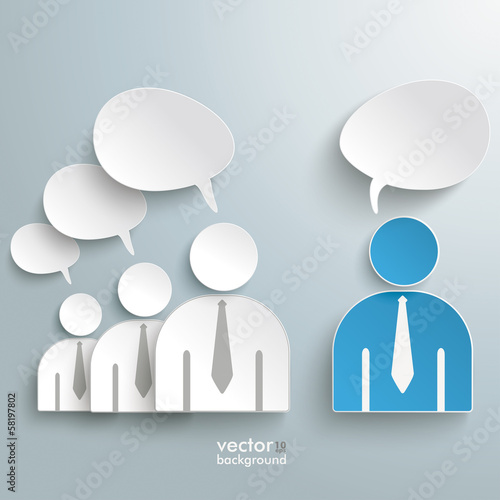 Business Humans Communication Speech Bubbles