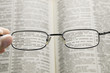 seeing dictionary through glasses