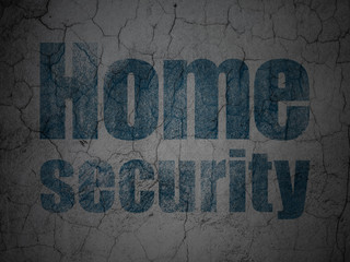 Protection concept: Home Security on grunge wall background
