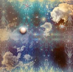 Vintage starry sky