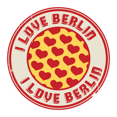Stamp with text I love Berlin, vector