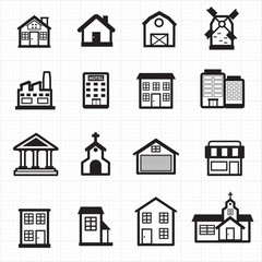 Building, house icons