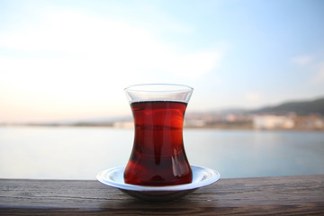 vapurda çay keyfi