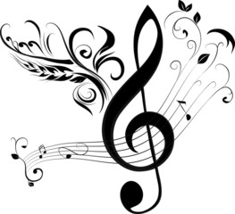 treble clef and note