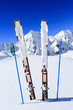 Ski, winter season , mountains and ski equipments