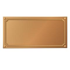 Metallschild, bronze