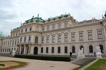 Außenansicht von Schloss Belvedere in Wien
