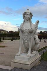 Sphinx im Garten von Schloss Belvedere in Wien
