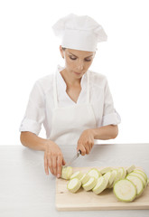 woman cook with marrow