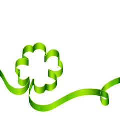 Background Green Cloverleaf Swirl