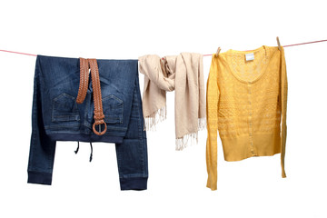 Women's fashion on the clothesline