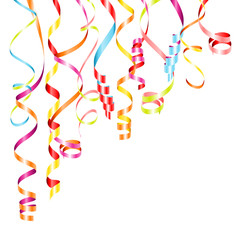 Streamers Color Party Background