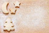 Christmas baking cookies abstract food background