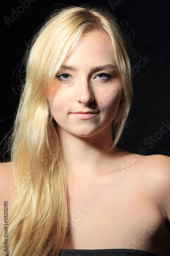 blonde girl portrait